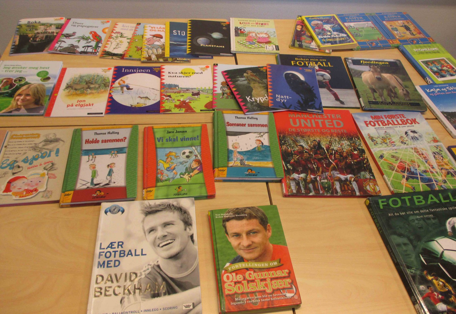 Fotballbøker er populære blant borna!